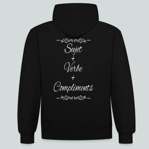 Sujet+verbe+compliments - Sweat-shirt contraste