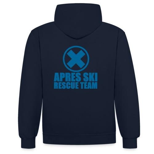apres-ski rescue team - Contrast hoodie