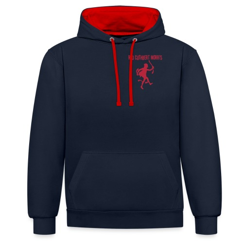 Red Cuthbert Logo design - Contrast Colour Hoodie