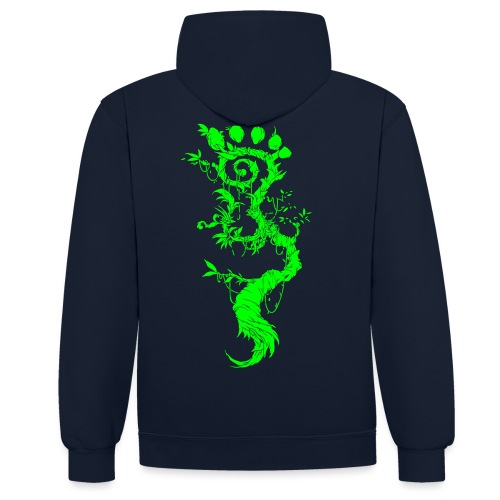 FootMoss green - Contrast Colour Hoodie