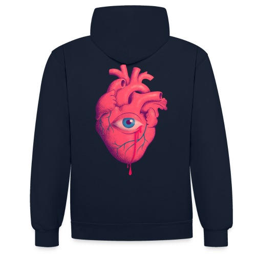 EYE HEART - Sudadera con capucha en contraste