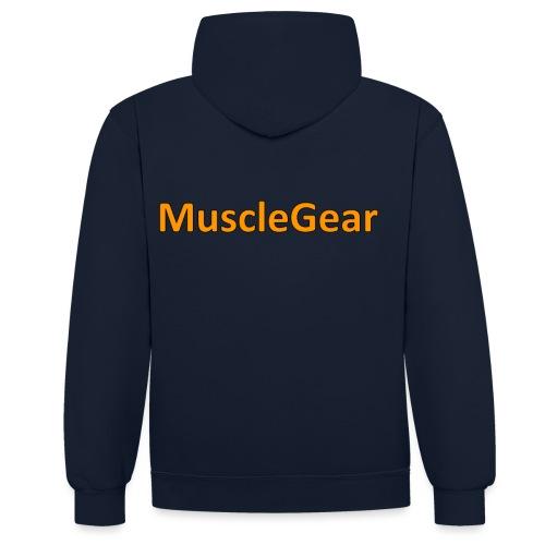 MuscleGear - Kontrast-hættetrøje