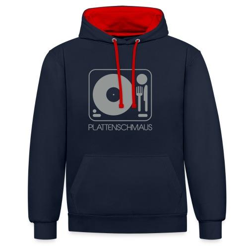 Plattenschmaus_Logo_ganz - Kontrast-Hoodie