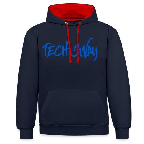 Tech Sway Blue - Contrast Colour Hoodie