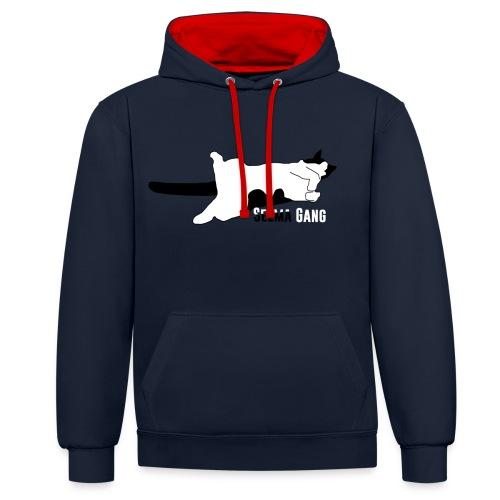 Selma Gang hoodie - Kontrastluvtröja