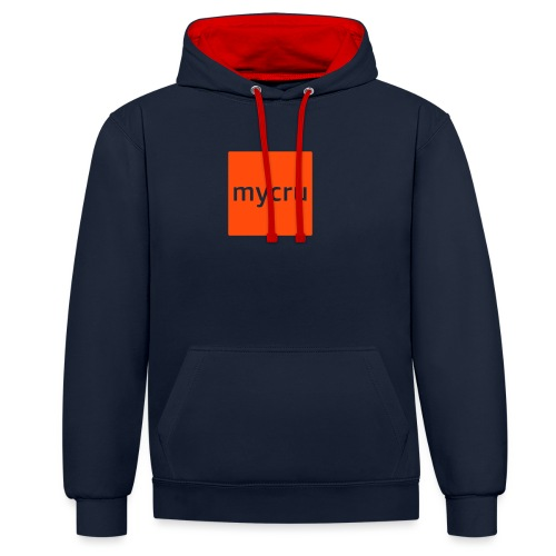 mycru logo - Contrast Colour Hoodie