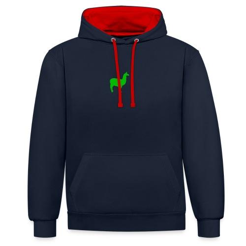 Lama - Contrast hoodie