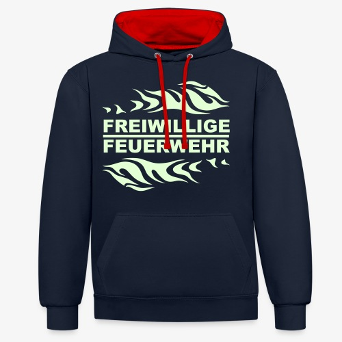 FFW Flame - Kontrast-Hoodie