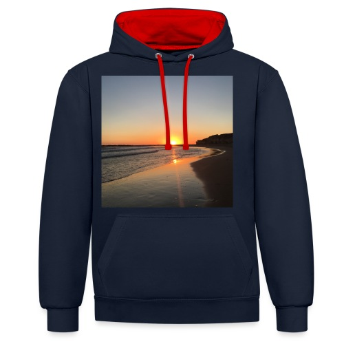 coucher de soleil - Sweat-shirt contraste
