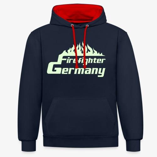 Firefighter Germany - Kontrast-Hoodie