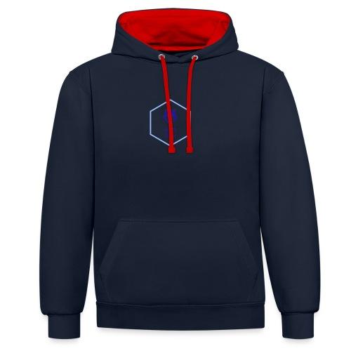 logo small - Felpa con cappuccio bicromatica