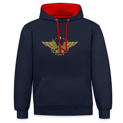 Orzeł SPQR   Eagle of SPQR - Bluza z kapturem z kontrastowymi elementami