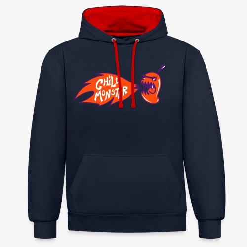 Chilli Monster - Contrast Colour Hoodie