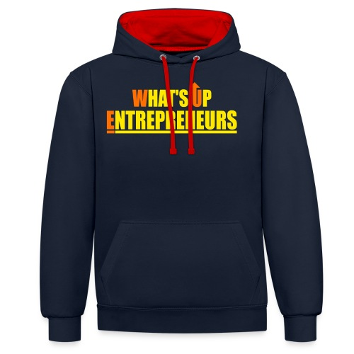 WHATS UP ENTREPRENEURS LOGO - Contrast Colour Hoodie