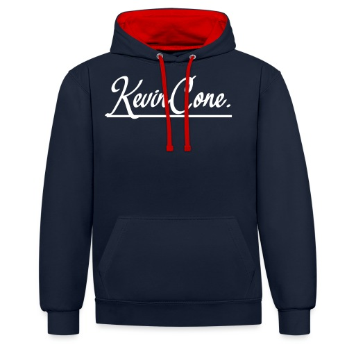 KevinCone. - Kontrast-Hoodie