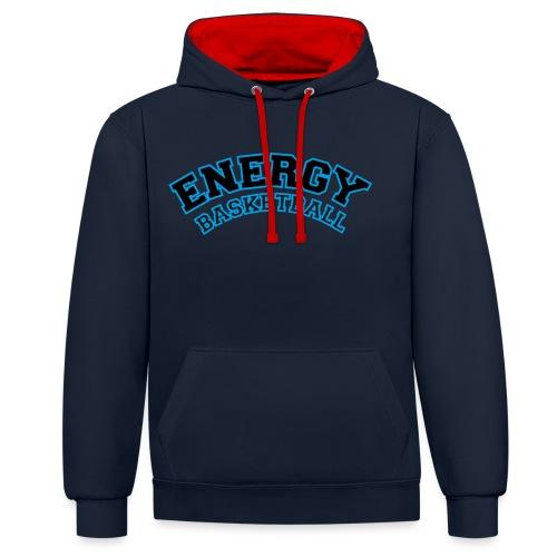 street wear logo nero energy basketball - Felpa con cappuccio bicromatica