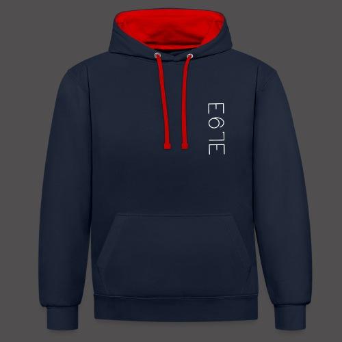 E67E Kollektion - Kontrast-Hoodie