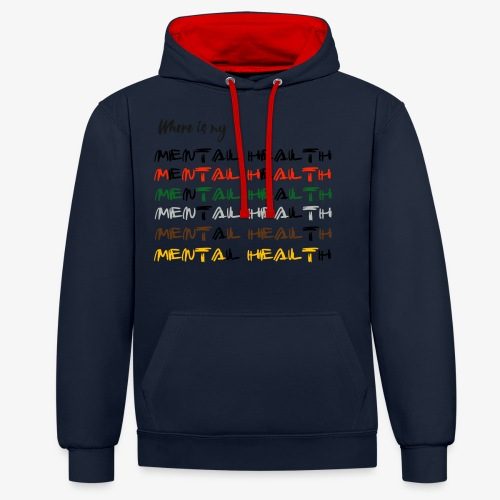 Where is my...? - Contrast Colour Hoodie