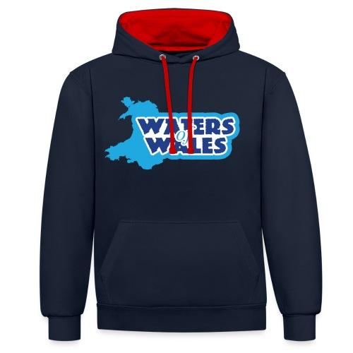 Waters of Wales Logo - Contrast Colour Hoodie