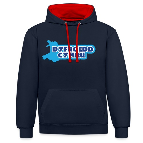 Dyfroedd Cymru - Contrast Colour Hoodie