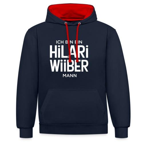 Proud Man of Hilari Wiiber - Kontrast-Hoodie