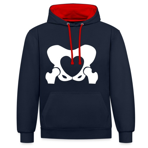 Love Your Hips Logo - Contrast Colour Hoodie