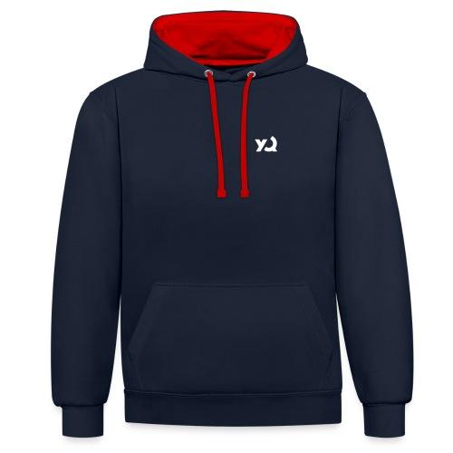 yq logo - Kontrast-Hoodie