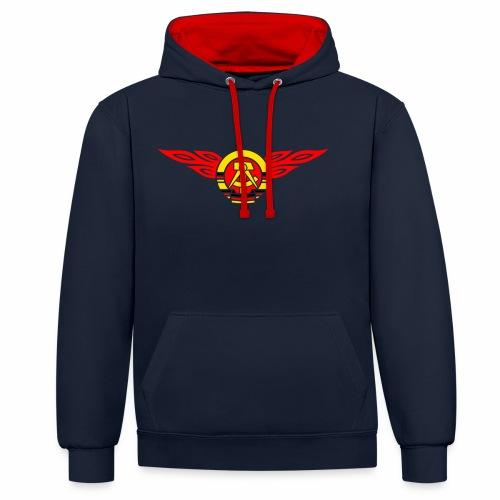 GDR flames crest 3c - Contrast Colour Hoodie