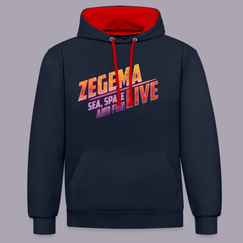 Slogan Zegema Live - Sweat-shirt contraste