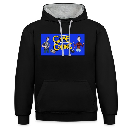 Game Coping Happy Banner - Contrast Colour Hoodie