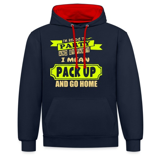 Ready To Party - Contrast Colour Hoodie