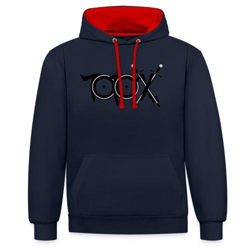 TotoX Logo sw - Kontrast-Hoodie