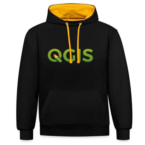 QGIS text transp bg 300dpi - Contrast Colour Hoodie