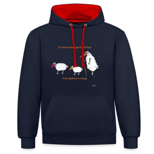 The Shepherd is a sheep - Kontrast-Hoodie