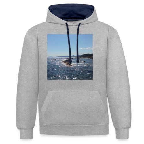 Mer avec roches - Sweat-shirt contraste