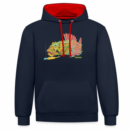 'Scorp' - Long Spined Sea Scorpion - LRF - Contrast Colour Hoodie