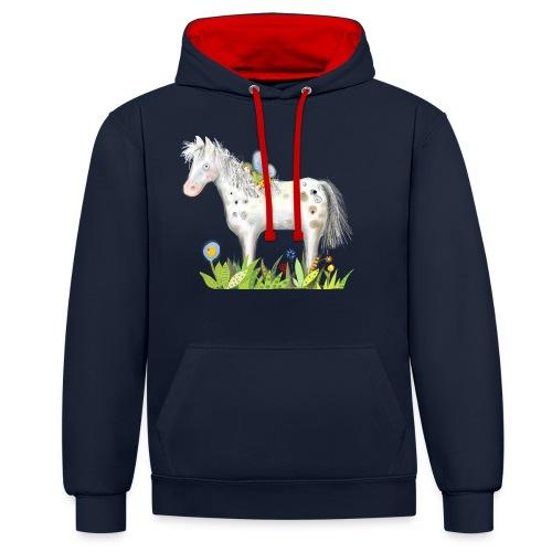 Fee. Das Pferd und die kleine Reiterin. - Kontrast-Hoodie