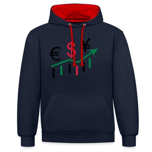 forex dollar euro - Kontrast-Hoodie
