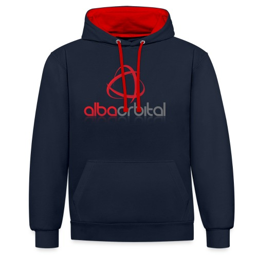Alba Orbital's Offical Logo - Contrast Colour Hoodie
