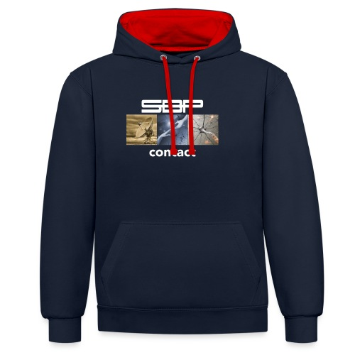 T-shirt Contact 123 black - Contrast Colour Hoodie