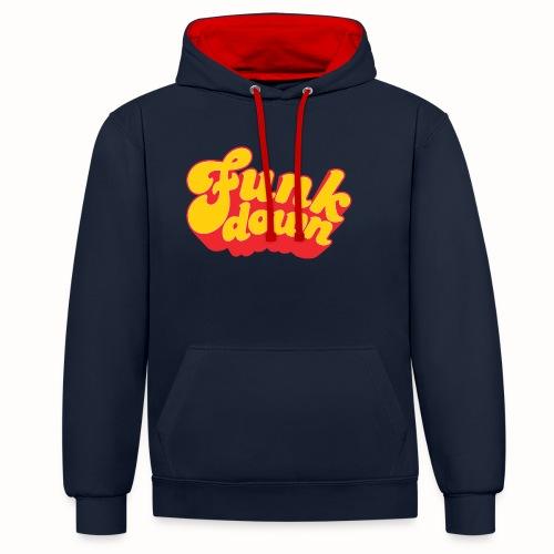 Funkdown Official Merchandise - Kontrast-hættetrøje