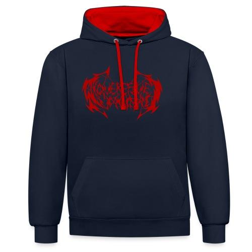 ARV Logo rosso - Felpa con cappuccio bicromatica