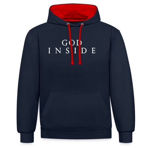 GOD INSIDE - Contrast Colour Hoodie
