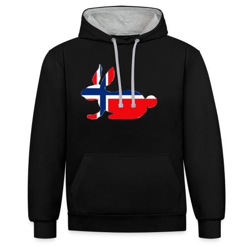 norwegian bunny - Contrast Colour Hoodie