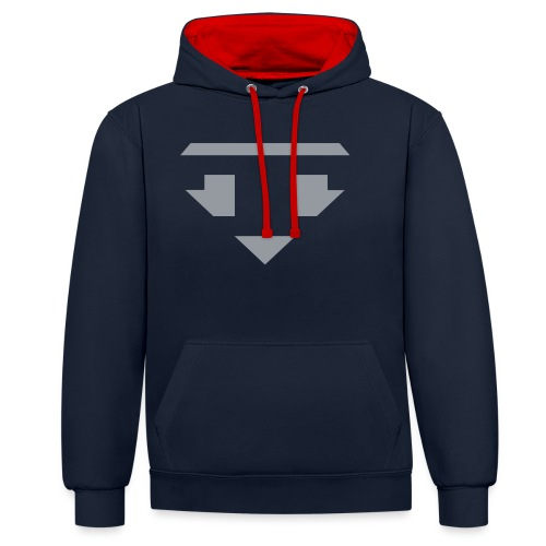Twanneman logo Reverse - Contrast hoodie