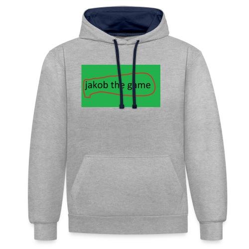 jakob the game - Kontrast-hættetrøje