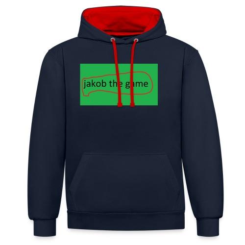 jakobthegame - Kontrast-hættetrøje