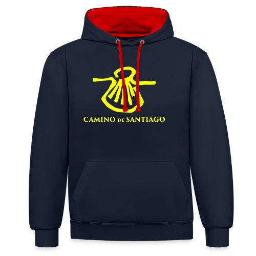Camino de Santiago - Kontrast-hættetrøje
