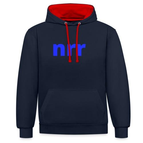 NEARER logo - Contrast Colour Hoodie