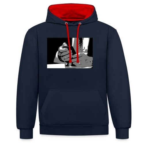perception of reality - Kontrast-Hoodie